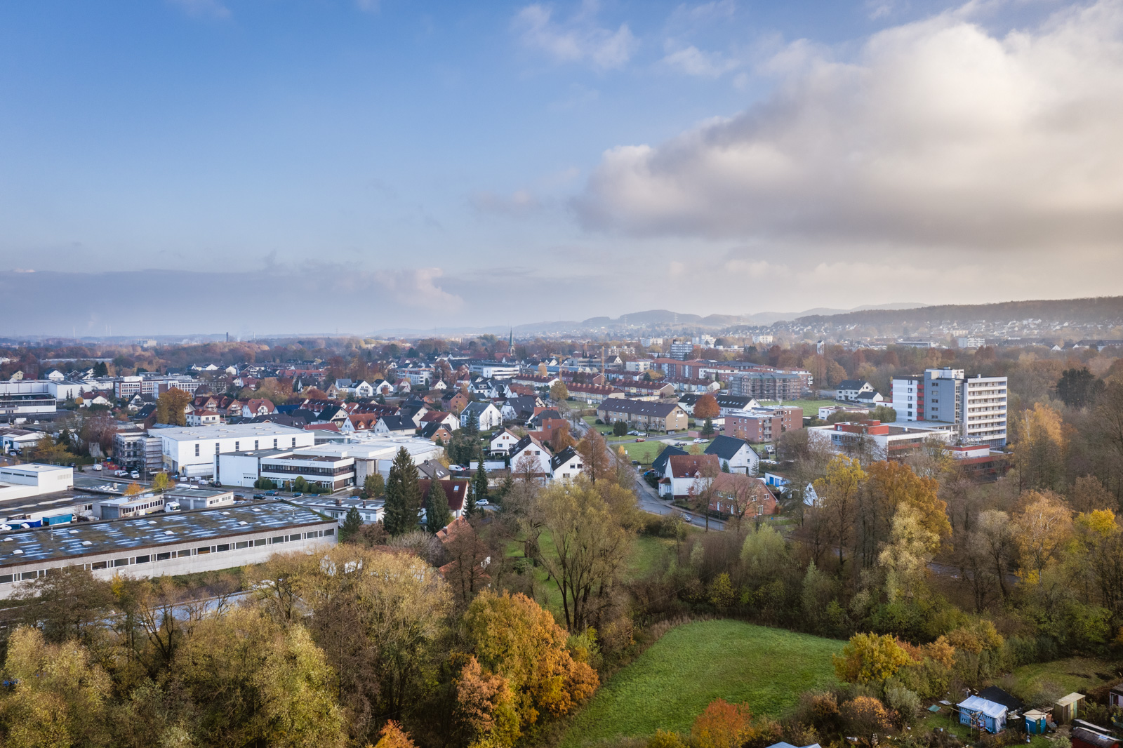 Aerial photograph of Bielefeld-Stieghorst in November 2019.