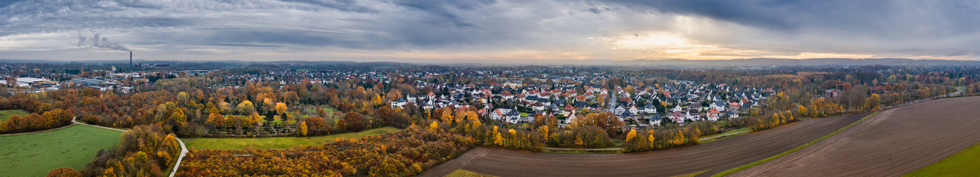 Bielefeld district Heepen in November 2019 (Germany).