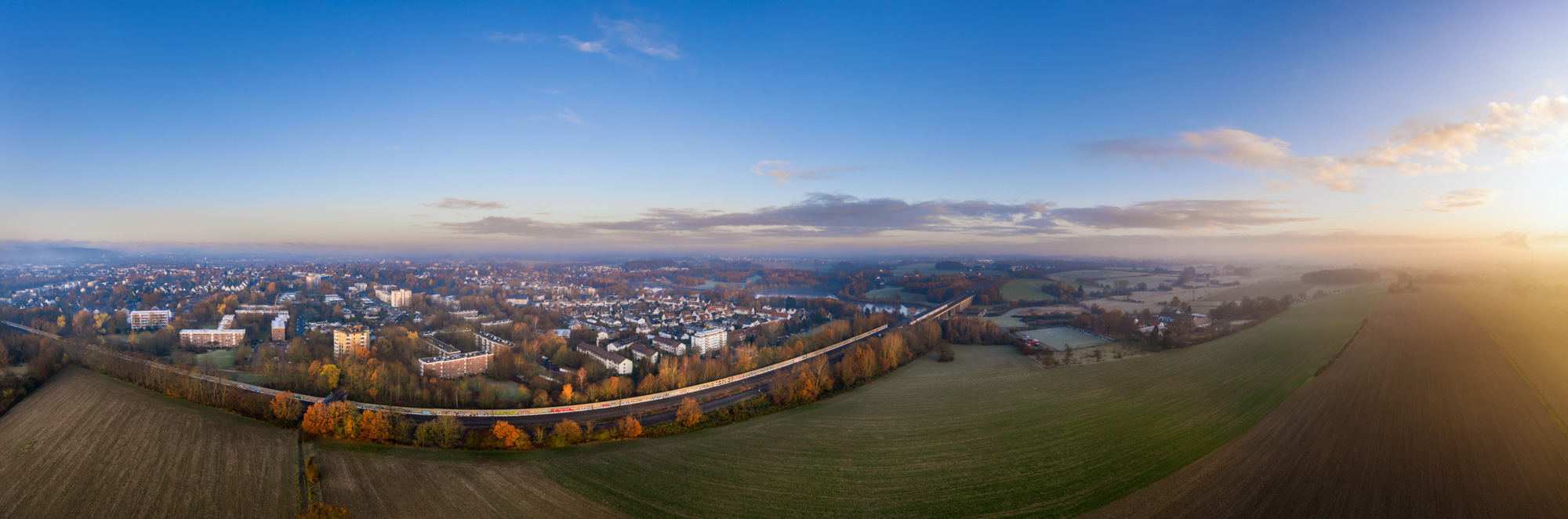 District 'Schildesche' from the air in November 2019.