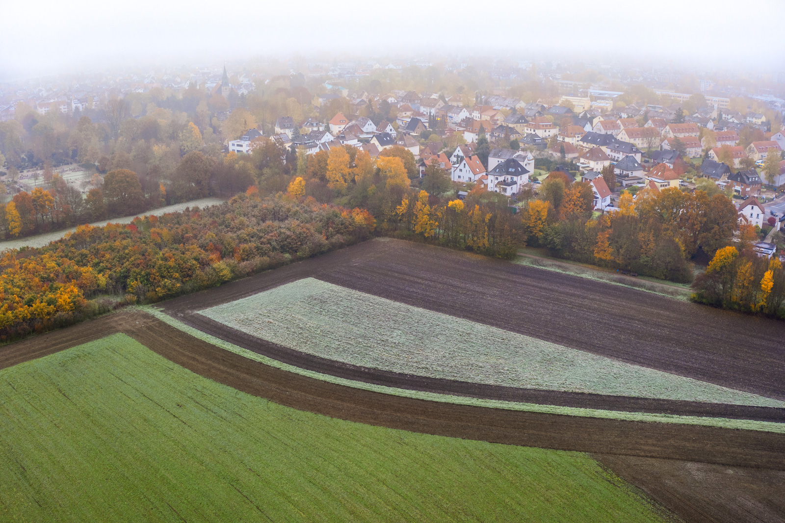 Agricultural Geometry. Fields near Bielefeld-Heepen (Germany).