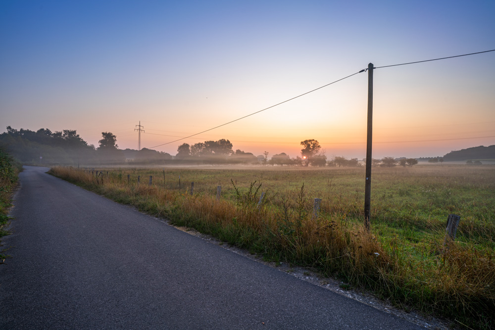 Early morning in the fields (Johannisbachaue, Bielefeld, Germany)