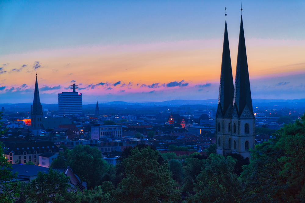 Sunrise in August over Bielefeld