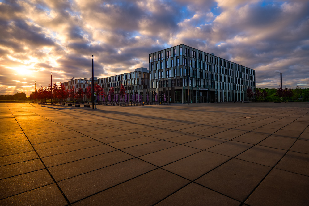 University of applied sciences at sunrise