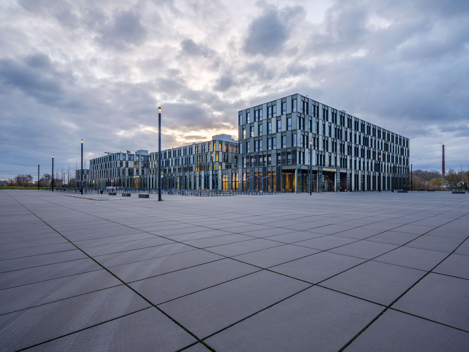 University of Applied Sciences Bielefeld on a March morning.