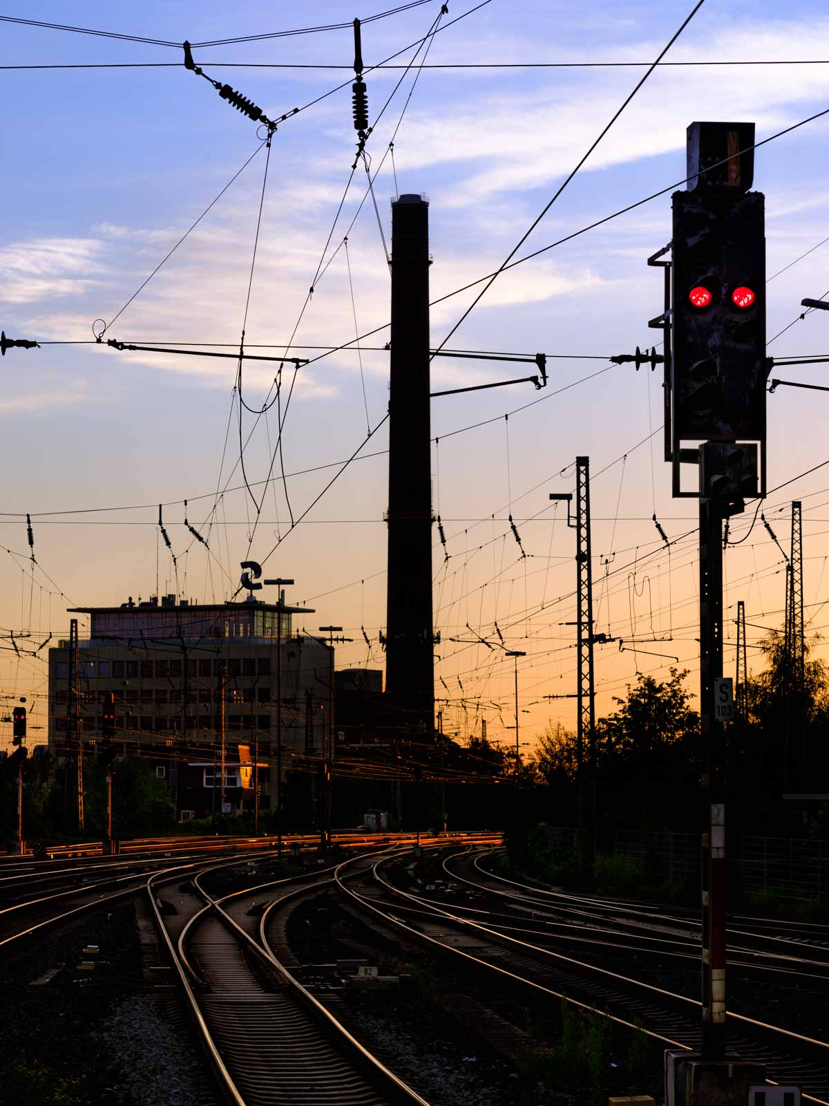 Railway romance at Bielefeld main station on 1 August 2020 in the morning at 6 am (Bielefeld, Germany).