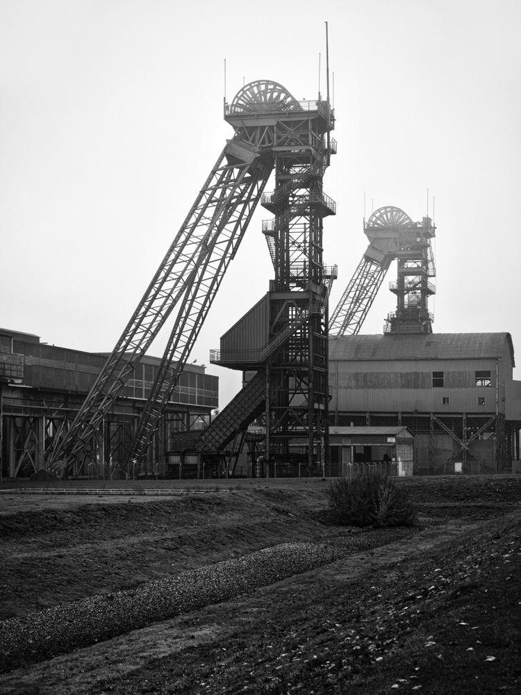 coal mine westfalen - mining towers